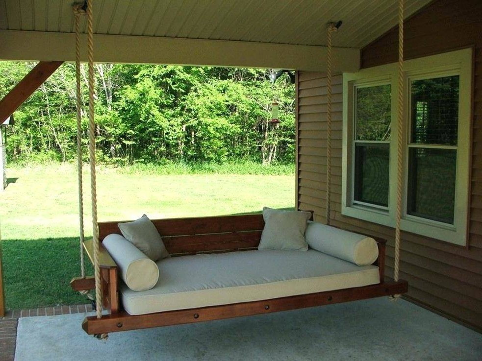 Famous Swinging Porch Gorgeous Round Hanging Daybed Swings Swing Regarding Country Style Hanging Daybed Swings (View 6 of 20)