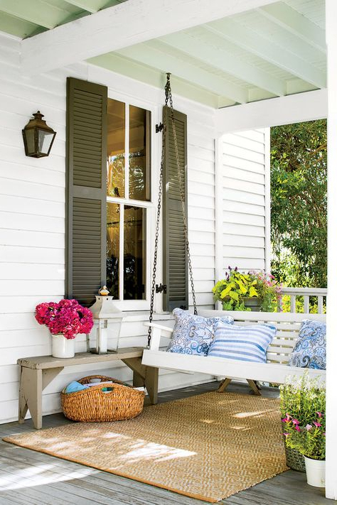 Farmhouse Porch Swings Within Well Known Cotton Porch Swings (Gallery 3 of 20)