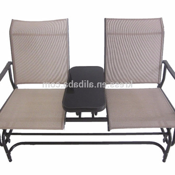 Fashionable 2 Person Gray Steel Outdoor Swings With Regard To Sundale Outdoor 2 Person Glider Bench Chair Patio Porch Swing With Rocker –  Buy 2 Person Glider Chair,ourdoor Glider Bench Chair,glider Porch Swing (Gallery 5 of 20)