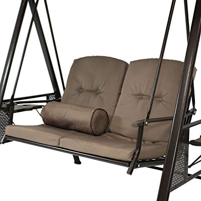 Fashionable 2 Person Outdoor Convertible Canopy Swing Gliders With Removable Cushions Beige In Buy Sunnydaze Outdoor Porch Swing Loveseat With Adjustable (View 16 of 20)