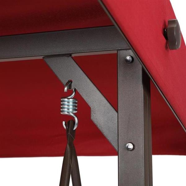 Fashionable 3 Person Red Futon Swing (Gallery 13 of 20)