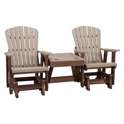 Fashionable Center Table Double Glider Benches Inside Outdoor American Furniture Classics Double Glider With (Gallery 2 of 20)