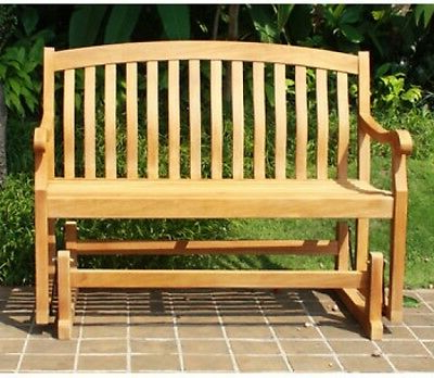 Fashionable Crestwood Garden 4 Teak Glider Outdoor Patio Bench – Brown Intended For Teak Outdoor Glider Benches (View 13 of 20)