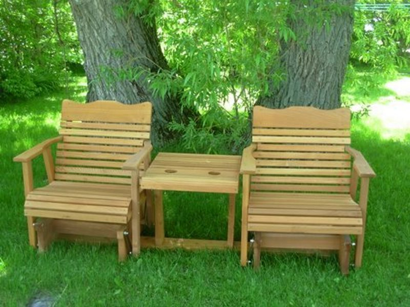 Fashionable Gliders Throughout 2 Person Natural Cedar Wood Outdoor Gliders (View 8 of 20)