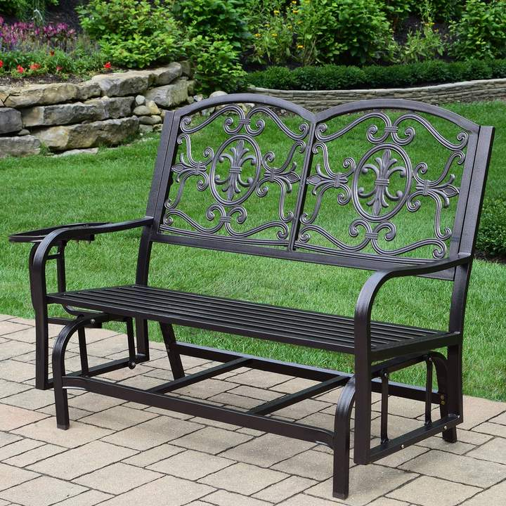 Fashionable Indoor/outdoor Double Glider Benches Intended For Lakeville Outdoor Double Glider (View 19 of 20)