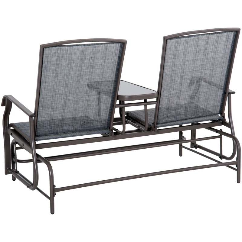 Fashionable Out/y Outdoor Glider Bench Patio Swing Chair Garden Porch In Outdoor Patio Swing Glider Bench Chairs (View 20 of 20)