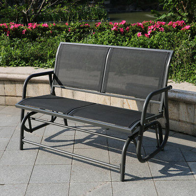 Fashionable Outdoor Swing Glider 2 Person Patio Rocking Chair Loveseat Inside 2 Person Gray Steel Outdoor Swings (Gallery 16 of 20)