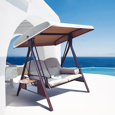 Fashionable Top 10 Best Patio Swings With Canopies – Closeup Check With Patio Loveseat Canopy Hammock Porch Swings With Stand (View 18 of 20)