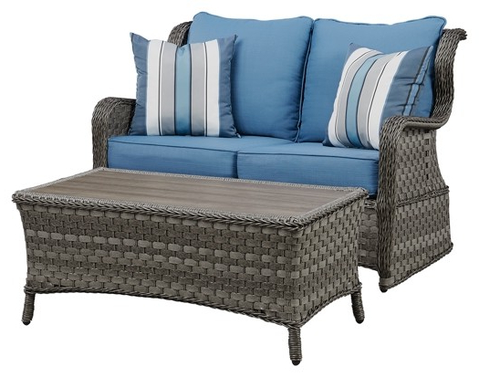 Favorite Abbots Court – Abbots Court Loveseat Glider With Table Inside Loveseat Glider Benches With Cushions (View 20 of 20)