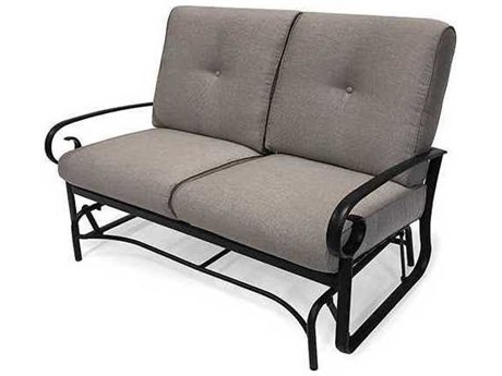 Favorite Aluminum Glider Benches With Cushion Pertaining To Winston Quick Ship Veneto Cushion Cast Aluminum Loveseat Glider (View 5 of 20)