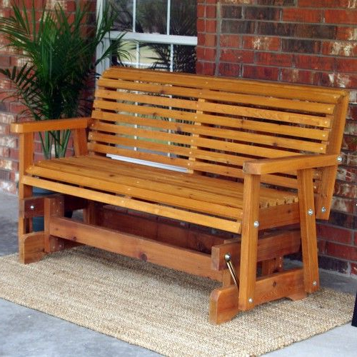 Favorite Cedar Colonial Style Glider Benches Pertaining To Tmp Outdoor Furniture Classic Roll Back Red Cedar Outdoor (View 11 of 20)
