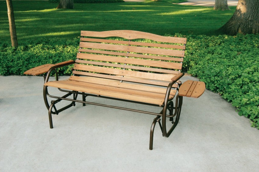 Favorite Hardwood Porch Glider Benches Regarding Design: Relax In Your Garden With Outdoor Wooden Benches (View 13 of 20)