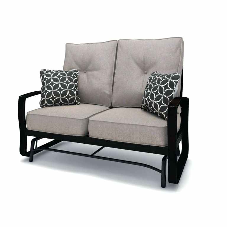 Favorite Loveseat Glider Benches With Cushions Regarding Patio Loveseat Glider – Sigpot (View 11 of 20)