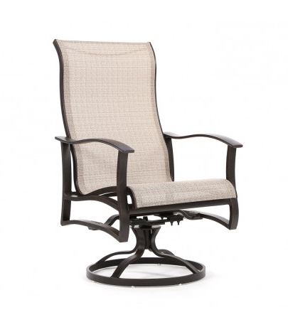 Favorite Mallin Albany Sling High Back Swivel Rocker Dining Chair Within Sling High Back Swivel Chairs (View 4 of 20)