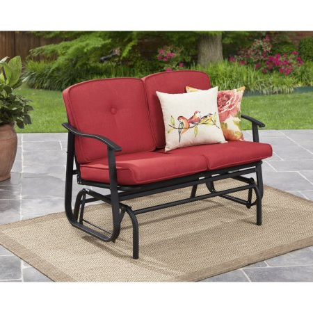 Favorite Outdoor Loveseat Gliders With Cushion Pertaining To Mainstays Belden Park Outdoor Loveseat Glider With Cushion (Gallery 1 of 20)