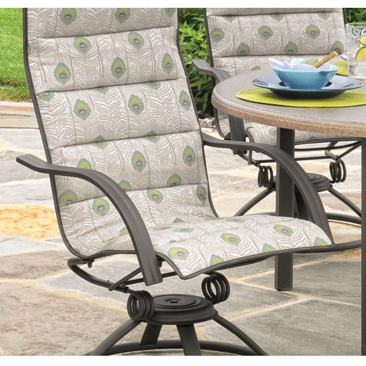 Favorite Padded Sling High Back Swivel Chairs For Homecrest Palisade Sling High Back Patio Swivel Rocker (View 8 of 20)