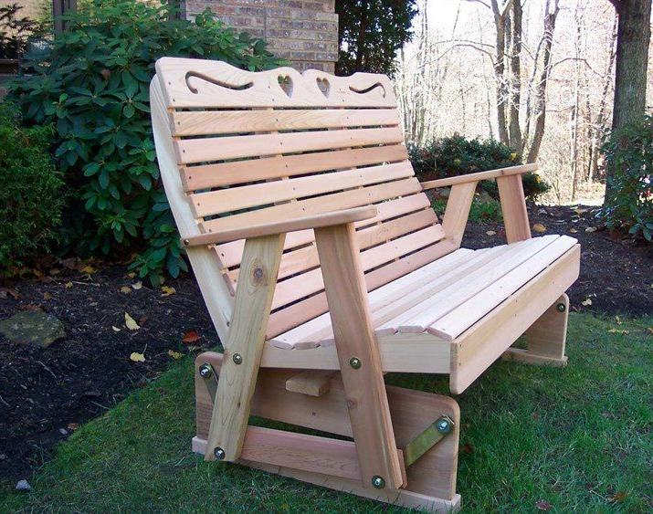 Favorite Rocking Glider Benches In Creekvine Designs Cedar Wood Royal Country Hearts Rocking (Gallery 8 of 20)