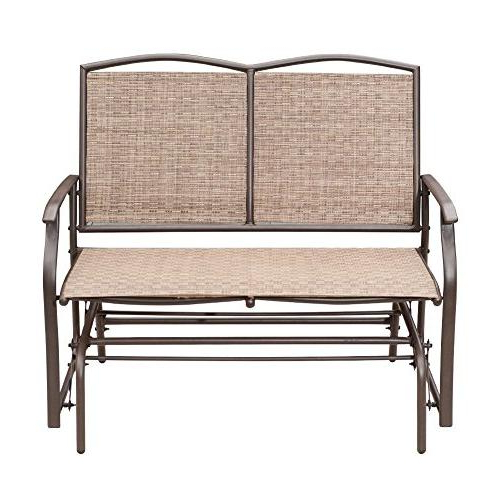 Favorite Steel Patio Swing Glider Benches Pertaining To Sunlife Outdoor Swing Glider 2 Person, Patio Furniture (Gallery 16 of 20)