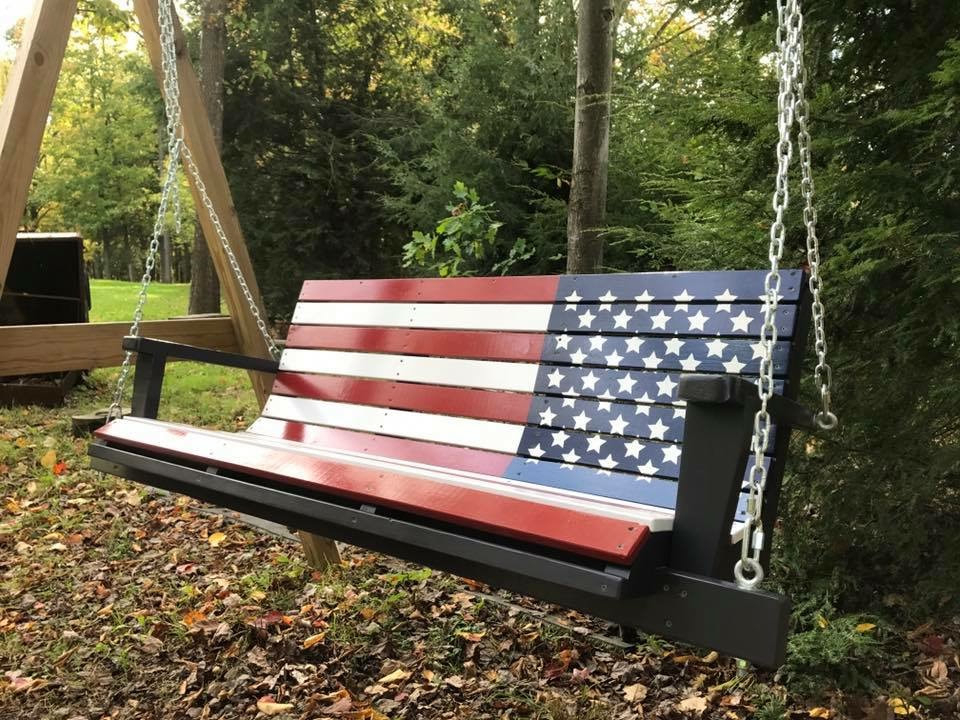 Flag & Custom Swings – Davis Porch Swings With Regard To Well Known American Flag Porch Swings (View 4 of 20)