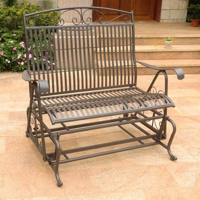 Featured Photo of Iron Double Patio Glider Benches