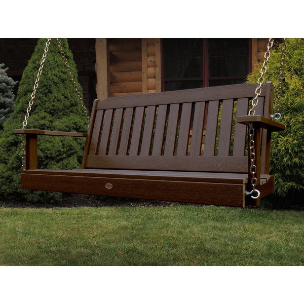 Fordyce Porch Swings Pertaining To Favorite Arianna Hardwood Hanging Porch Swing With Stand (Gallery 17 of 20)