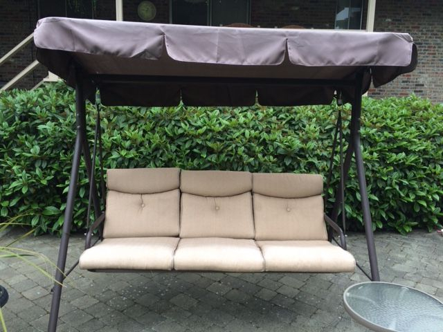 Fred Meyer Patio Swing Canopy Replacement And Cushions Intended For Well Known Porch Swings With Canopy (View 19 of 20)