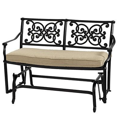 French Country Home Carol Throughout Well Known Glider Benches With Cushion (Gallery 3 of 20)
