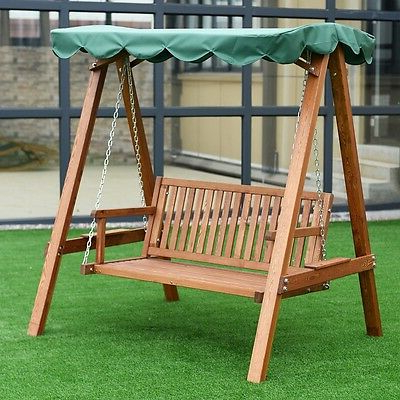 Garden Leisure Outdoor Hammock Patio Canopy Rocking Chairs With Popular 2Perple Home Outdoor Patio Larch Canopy Wooden Loveseat (Gallery 15 of 20)