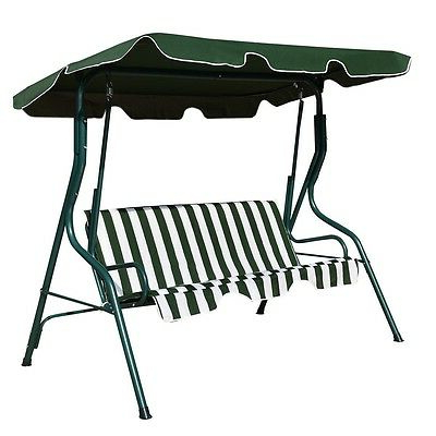 Garden Leisure Outdoor Hammock Patio Canopy Rocking Chairs Within Favorite 1pcs 3 Seats Patio Canopy Swing Hammock Outdoor Garden (View 17 of 20)