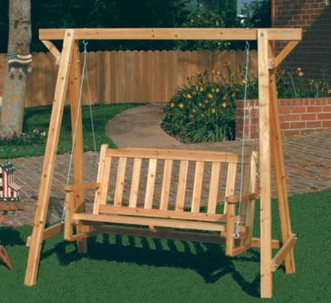 Garden Swing Self Standing Russian Pine Wood Chair Yard In Fashionable Rosean Porch Swings (View 4 of 20)