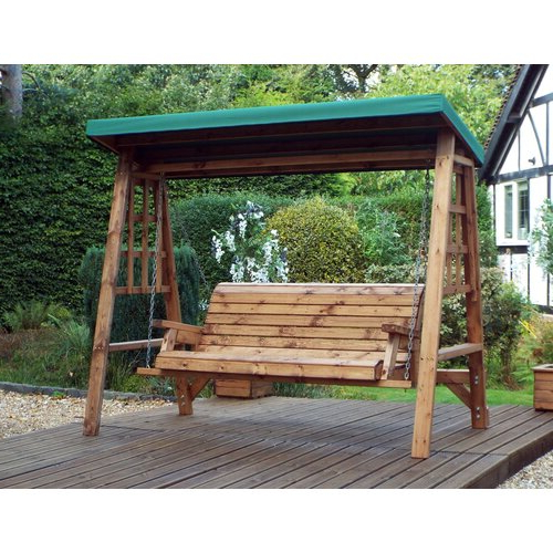 Garden Within 3 Seat Pergola Swings (View 5 of 20)