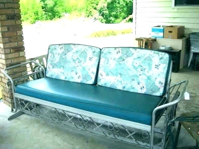 Glider Benches With Cushions Inside Most Current Antique Glider Retro Outdoor Sofa Metal Cushions Chair Bench (Gallery 12 of 20)