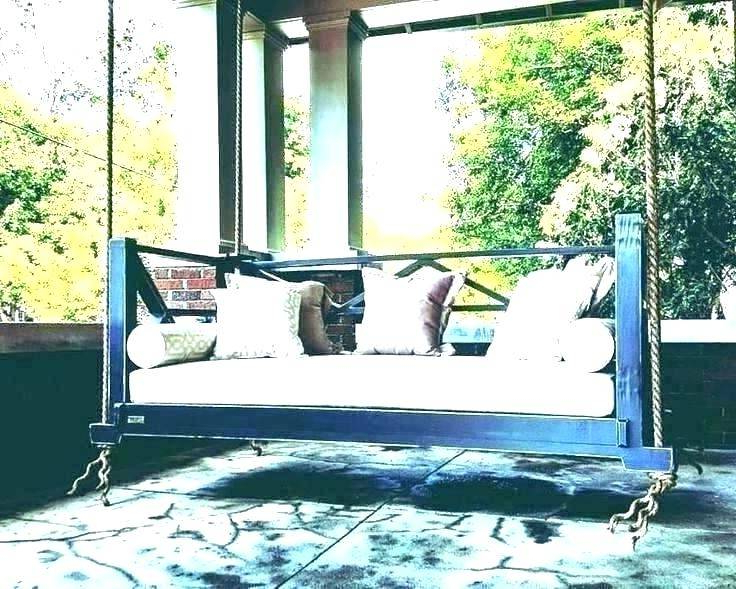 Gorgeous Hanging Daybed Swing Plans Porch Swings Swinging With Regard To 2019 Patio Hanging Porch Swings (View 13 of 20)
