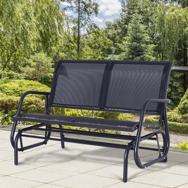 Grey Garden Seat 2 Seater Glider Rocking Bench & Mesh With Regard To Popular Rocking Glider Benches (Gallery 19 of 20)