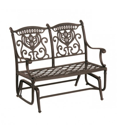 Hanamint Grand Tuscany Double Glider Inside Most Current Metal Powder Coat Double Seat Glider Benches (View 13 of 20)