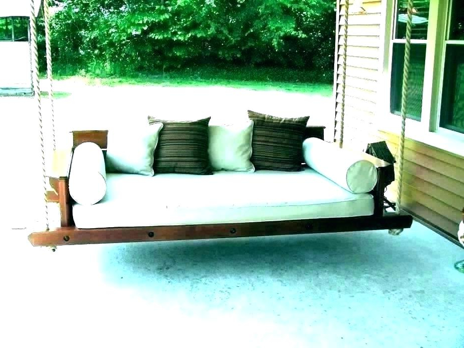 Hanging Daybed Rope Porch Swings For 2019 Rope Porch Swing Bed – Zoilarosborough (View 13 of 20)