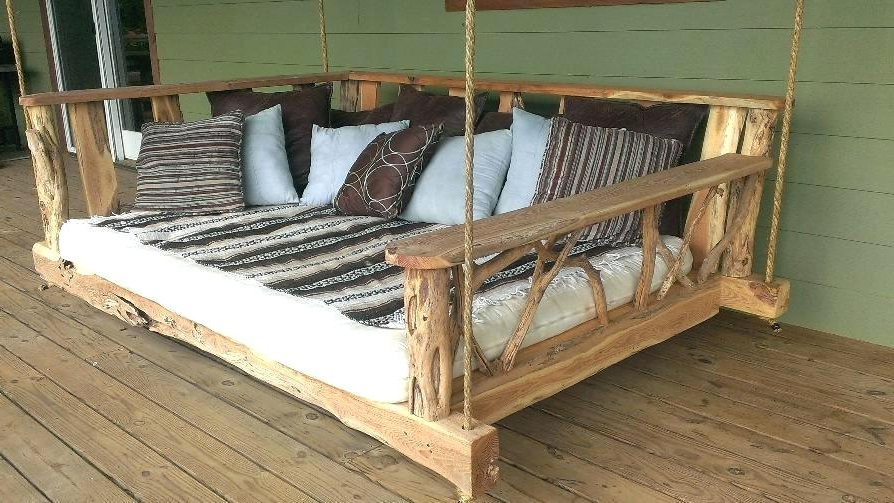 Hanging Porch Swing Bed Cushions Replacement Outdoor Beds Regarding Most Popular Outdoor Porch Swings (View 5 of 20)