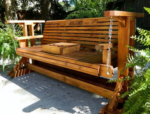 Featured Photo of Hardwood Porch Glider Benches