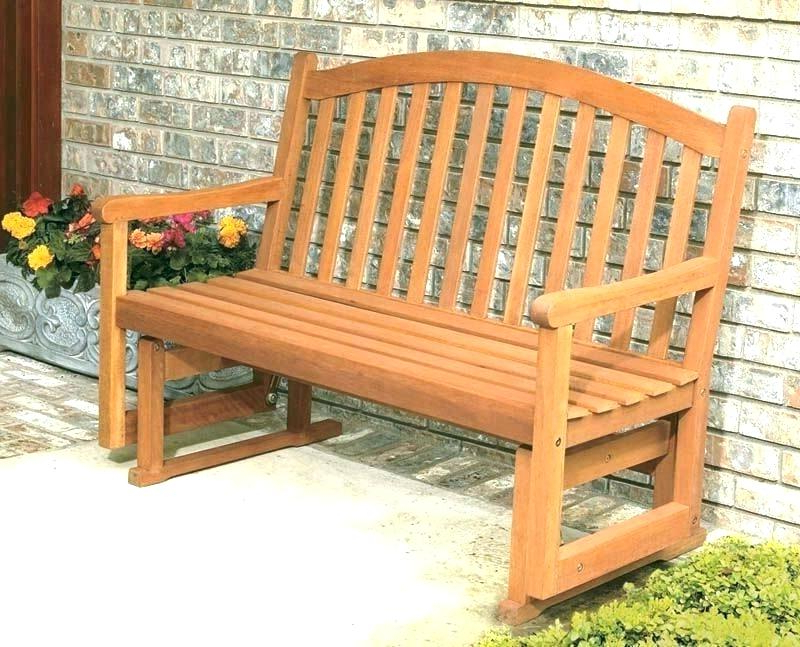 Hardwood Porch Glider Benches Throughout Most Current Glider Porch Swing Plans Free – Eventitude (View 5 of 20)