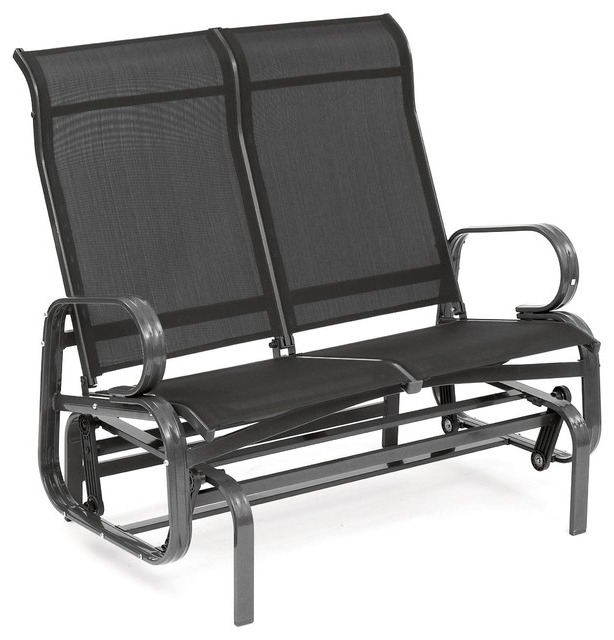 Havana Twin Seat Glider, Black For Well Known Twin Seat Glider Benches (View 7 of 20)