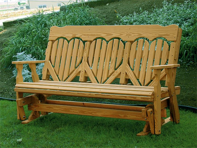 High Wooden Glider Bench — All Home Decor : Building Wooden Regarding Well Liked Hardwood Porch Glider Benches (View 8 of 20)