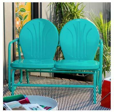 Indoor/outdoor Double Glider Benches For Preferred Garden Metal Bench Outdoor Indoor Vintage Distressed (View 12 of 20)