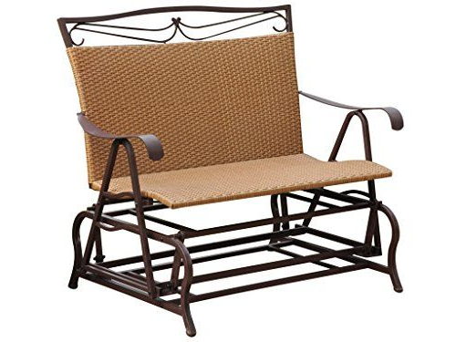 International Caravan Valencia Wicker Double Glider Patio Within Preferred Indoor/outdoor Double Glider Benches (View 3 of 20)