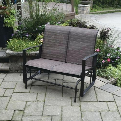 Iron Double Patio Glider Benches Throughout 2019 Patio Double Glider – Sigpot (View 5 of 20)