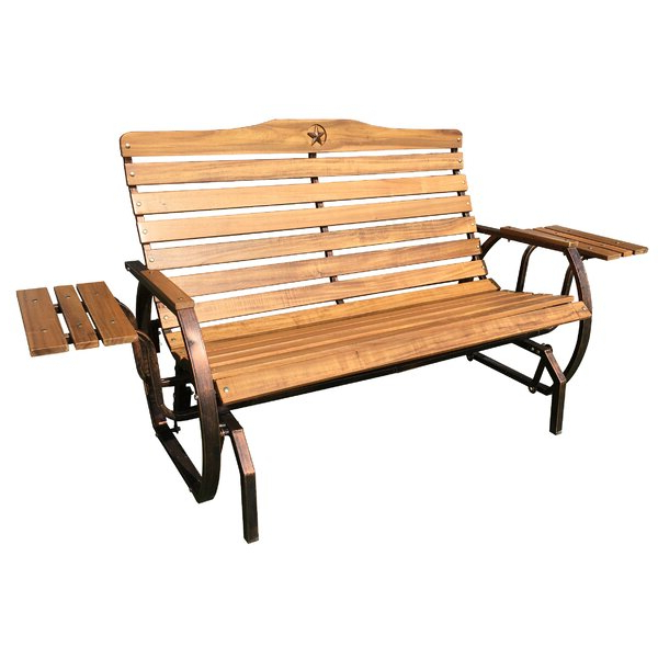 Featured Photo of Iron Grove Slatted Glider Benches