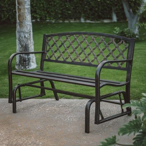Iron Grove Slatted Glider Benches Within Famous Pinterest (View 8 of 20)