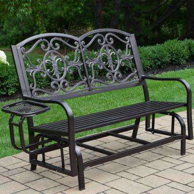 Lakeville Metal Outdoor Glider Throughout Preferred Aluminum Glider Benches With Cushion (View 10 of 20)