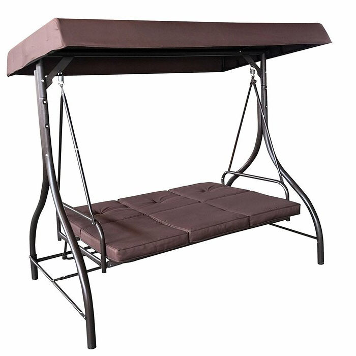 Lasalle Canopy Patio Porch Swing With Stand In 2020 Canopy Patio Porch Swing With Stand (View 4 of 20)