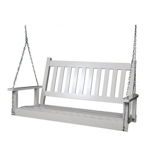 Latest 2 Person Black Wood Outdoor Swings With Style Selections 2 Person White Wood Outdoor Swing At Lowes (View 10 of 20)