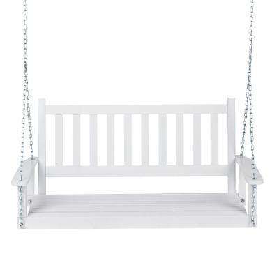 Latest Casual thames White Wood Porch Swings Regarding 25.5 In (View 3 of 20)